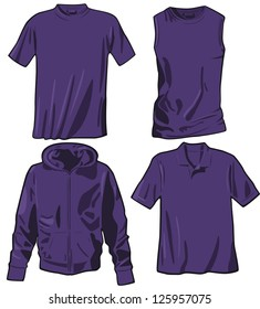 Set of the casual wear. Raster version, vector file available in portfolio.