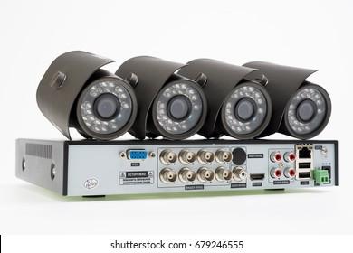 A set of CCTV - DVR and four cameras