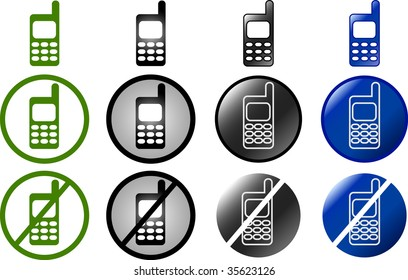 set of cell phone buttons and symbols (jpg)