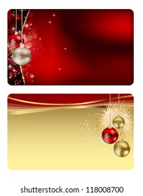 Set of christmas / New Year banners (cards). Raster Version.