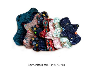Set of cloth pads for the entire menstrual cycle, Reusable menstrual pads, Washable, Eco Women Pads, Zero Waste Concept