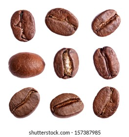 set of a coffee beans