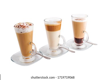 Set of Coffee collection isolated on white background