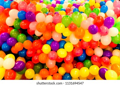 Set of colored balloons for parties and round weddings