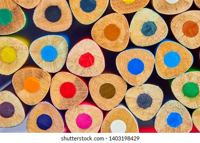 A set of colored pencils colorful background