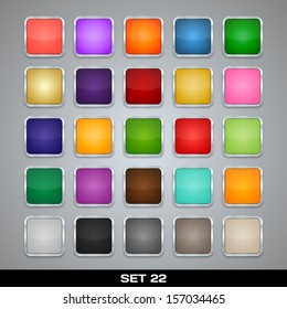 Set Of Colorful App Icon Templates, Frames, Backgrounds. Set 22. Raster version