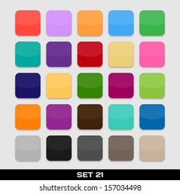 Set Of Colorful App Icon Templates, Frames, Backgrounds. Set 21. Raster version