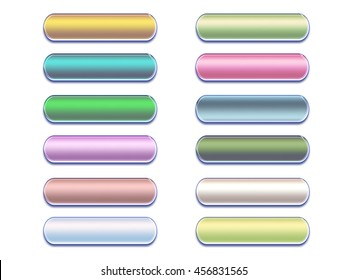 set of colorful buttons for web design