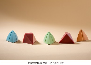Set of colorful chocolate candies