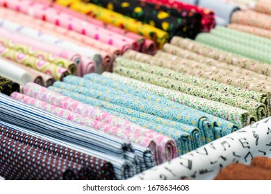 A set of colorful cotton fabric sheets