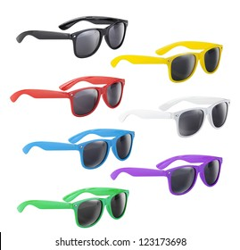 Set of colorful and funny sunglasses