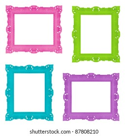 Set of colorful ornamental frames, similar available in my portfolio