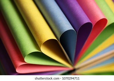 The set of colorful paper