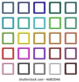 Set of colorful regular design frames