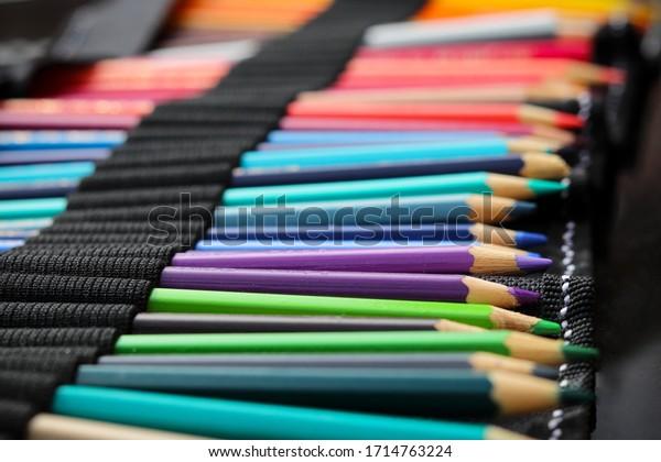 A set of colouring pencils