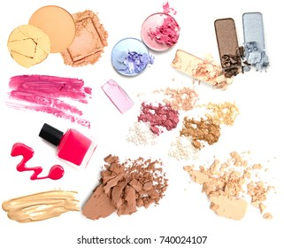 Set cosmetic products isolate. Make up product.
