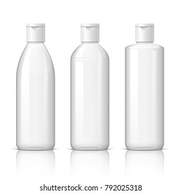 set of cosmetic products on a white background. Cosmetic package collection for cream, soups, foams, shampoo. 3D illustration