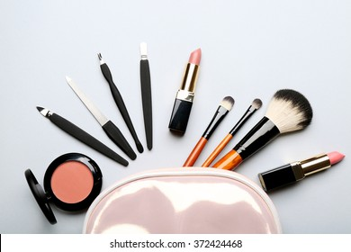 Set of cosmetics, closeup