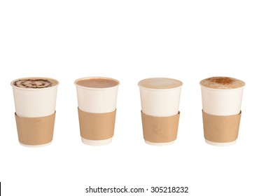 Set of Cups of coffee and Chocolate