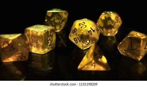 Set of d20 dice