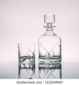 Set of decanter and glasses