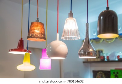 set of decorative lamps