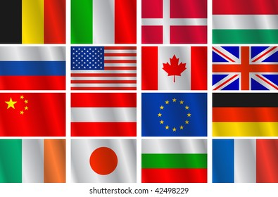 Set different countries flags. Vector version this Image ID: 40773886