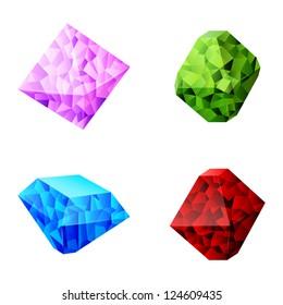 set of different diamonds
