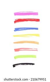 set of drawn design lines felt pen