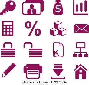 Set of e-commerce icons for internet site design