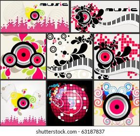 Set of elegant music backgrounds