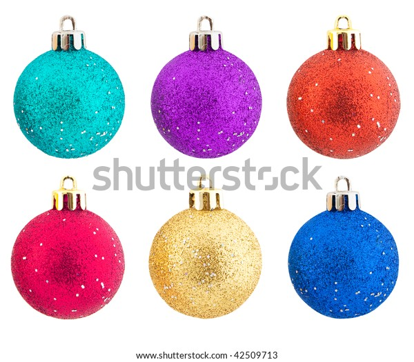 Set of elegant shining Christmas decorations