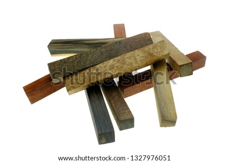 Set Exotic Wood Real Blanks Pen Stock Photo (Edit Now) 1327976051