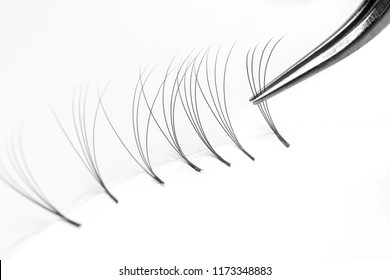 Set eyelash extension tools white isolated background 4d