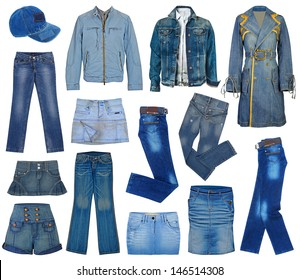 set of fashion jeans