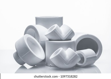 set of fittings for pvc pipes
