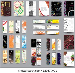 Set of flyers , banners , labels. Raster version