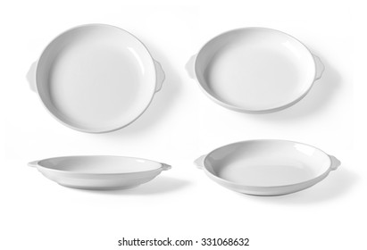 set of four White plates on white background  sc 1 st  Shutterstock & White Empty Ceramic Plate Different Points Stock Vector 691311364 ...