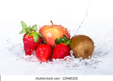 Set of fresh fruits