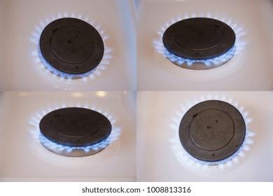 Set Gas burners.