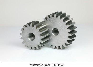 Set of Gears Isolated on White Background