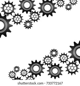set of gears on a white background : Isolated and flat illustration graphic design