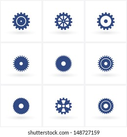 set of gears. (vector version also available in my gallery)