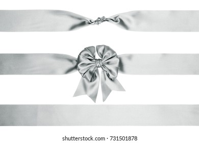Set of gift bow and ribbon Isolated on white background