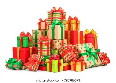 set of gift box isolated on white background
