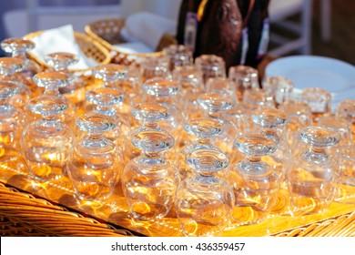 Set of glasses for brandy and whiskey, stemware