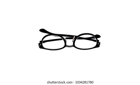 f2588f33299 A set of glasses isolated for model icons on white background. Silhouettes.  Various shapes
