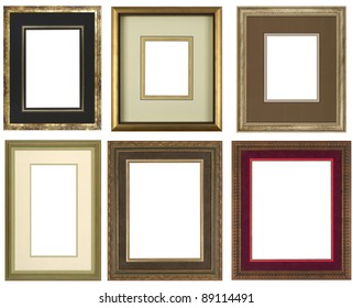 Set of gold art picture frames