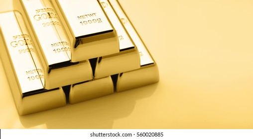 Set of Gold bars.