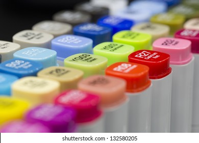 A set of Graphic Design colored Alcohol Markers